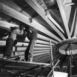 Installation of the Roof for a Liquid Methane Tank Photographic Print by Heinz Zinram
