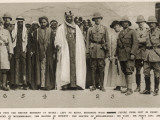 Ibn Saud, Sir Percy Cox, Miss Gertrude Bell Photographic Print