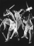 A Batsman Exhibitis Four Different Shots Photographic Print by Heinz Zinram
