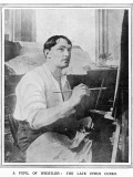 Cyrus Cincinnato Cuneo, Special Artist of the Illustrated London News, Pictured at Work Photographic Print