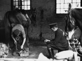 A Farrier Fits a Horseshoe - Didsbury 1963 Photographic Print by Shirley Baker