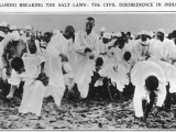 Gandhi Breaking the Salt Laws - Civil Disobedience Photographic Print