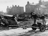 Children Play on Abandoned Cars - Moss Side, Manchester Photographic Print by Shirley Baker