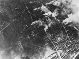 Aerial View of Ypres in Flames During World War I in Belgium Photographic Print by Robert Hunt