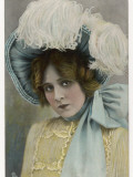 Edna May in Bonnet Photographic Print