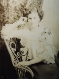 A Fashionable Young Woman Poses for Her Photo in Tasmania, Australia Photographic Print by Vanessa Wagstaff