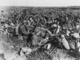 German Soldiers Resting on the Western Front During World War I Photographic Print by Robert Hunt