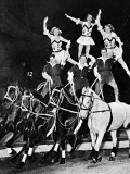 Equestrian Acrobats at the Circus, 1948 Photographic Print