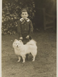 Little Boy and Pet Dog Photographic Print