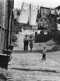 Behind the Terraces - Salford Photographic Print by Shirley Baker