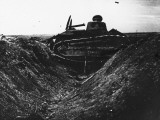 French Tank in a Trench During World War I Photographic Print by Robert Hunt