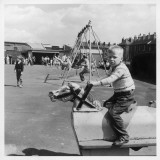 Children in a Sheffield Playground Photographic Print by Henry Grant