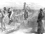 Bicycle Race at Lillie-Bridge, London, 1875 Photographic Print