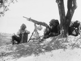French Machine Gun in Action Against Aircraft at Gallipoli During World War I Photographic Print by Robert Hunt