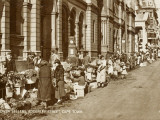Flower Sellers - Adderley Street, Cape Town, South Africa Photographic Print