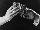 Raising Glasses Photographic Print