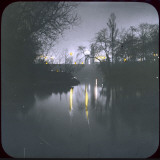 A View across the Lake at Night Photographic Print