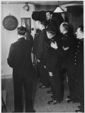 Metropolitan Police Officers Relaxing Playing a Game of Darts Photographic Print