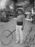 Little Boy with Wheel Marker, Italy Photographic Print by Vanessa Wagstaff