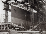 Photograph of the Ship While under Construction in 1911 Photographic Print