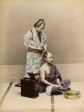 Japanese Barber Fotodruck