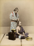 Japanese Barber Photographic Print