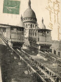 Sacre Coeur, Montmartre, with the Funiculaire Photographic Print