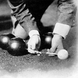 Photograph Showing the Measuring from a 'Jack' During a Game of Bowls, Britain, 1903 Photographic Print
