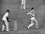 Neil Harvey Batting in the Fourth Test Match, Headingley Photographic Print
