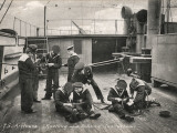 Knotting Class, Training Ship Arethusa, Greenhithe, Kent Photographic Print by Peter Higginbotham