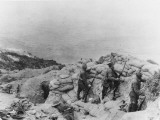 Soldiers Guarding on Ghurka Bluff at Gallipoli During World War I Photographic Print by Robert Hunt