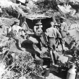 British or Australian Soldiers Taking Shelter at Gallipoli During World War I Photographic Print by Robert Hunt