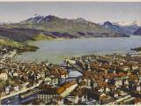 Lucerne: Vierwaldstattersee and the Rigi Photographic Print