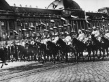 German Cuirassiers Returning from a Parade in Brussels During World War I Photographic Print by Robert Hunt