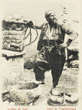 Constantinople - a Happy Fruit Vendor, Standing Next to a Well Photographic Print