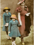 Queen Mother with Margaret and Elizabeth Photographic Print