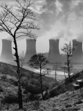 Cooling Towers of a Power Plant - Agecroft, Manchester 1966 Photographic Print by Shirley Baker