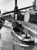 Barges on the Bridgewater Canal, Manchester 1960 Photographic Print by Shirley Baker