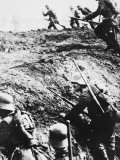 German Attack Out of the Trenches During World War I on the Western Front Photographic Print by Robert Hunt