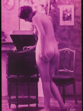 Naked Woman at the Gramophone Photographic Print
