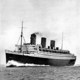 Photograph of the R.M.S. 'Queen Mary' on Sea Trials, Prior to Her Maiden Voyage, May 1936 Photographic Print