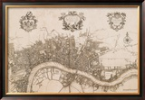 Plan of the City of London, 1720 Pôsters por John Stow