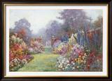 Summer Garden Print by Alfred Fontville de Breanski