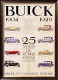 Twenty-Five Years of Buick Automobiles Framed Giclee Print