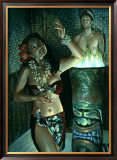 Waikiki Wally's Taboo Hula Girl Framed Giclee Print by Richie Fahey