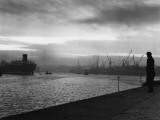 Shipyard Sunset Photographic Print