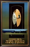 Orient Express Framed Giclee Print by Pierre Fix-Masseau