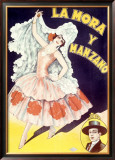 La Mora Spanish Flamenco Dancer Framed Giclee Print