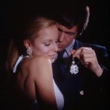 Retro Couple with Sparkly Jewells, Diamonds, Fake, Gift, Presents Photographic Print