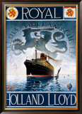 Royal Holland Lloyd Framed Giclee Print by Tyld Leans